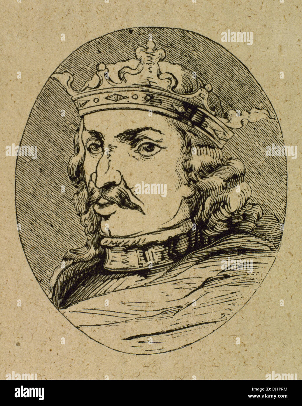 Henry IV of Castile (1425-1474). King of the Crown of Castile. Nicknamed The Impotent. Engraving. - Stock Image