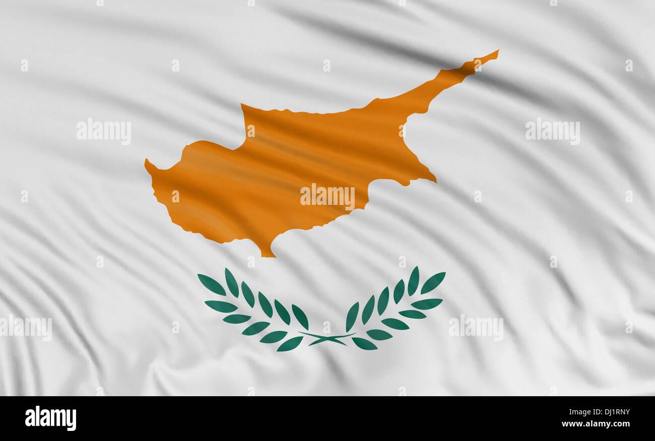 3D Cyprus flag - Stock Image