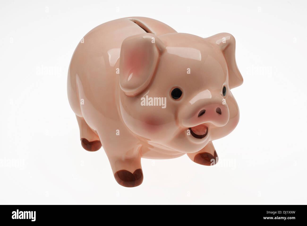 China/ceramic child's savings or piggy bank. - Stock Image