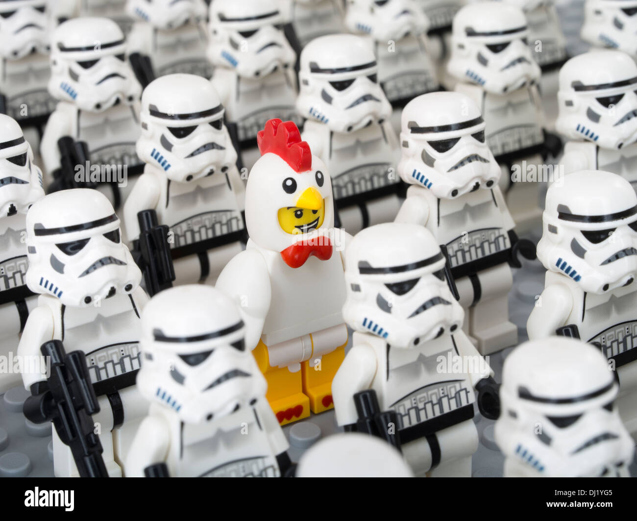 Lego Star Wars Minifigure Chicken Suit  / Storm Troopers - Stock Image
