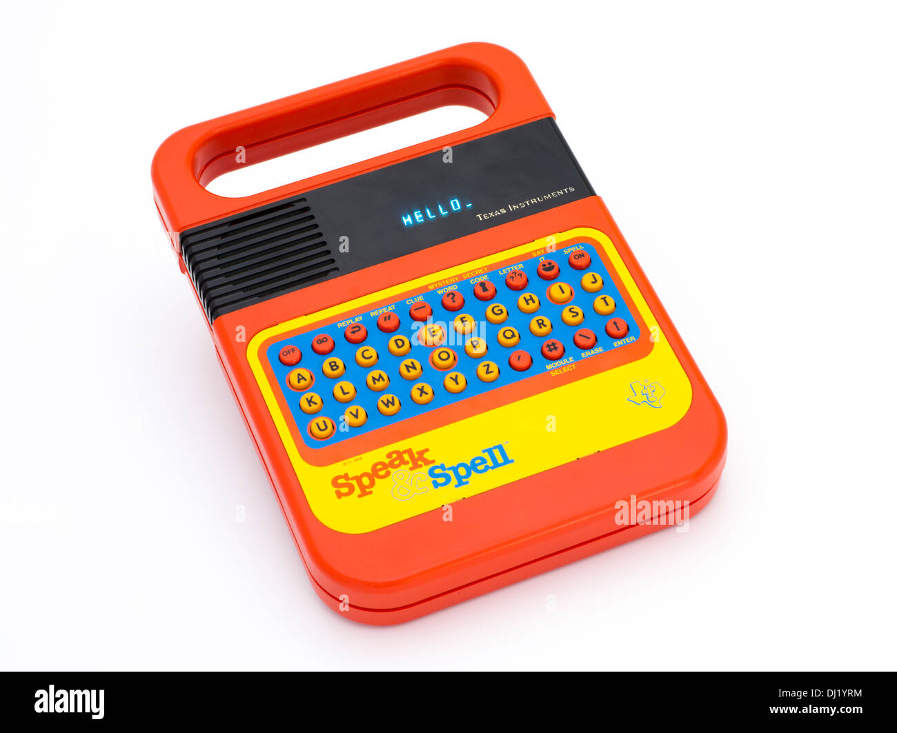 Original Speak & Spell by Texas Instruments 1978 an electronic handheld educational toy - Stock Image