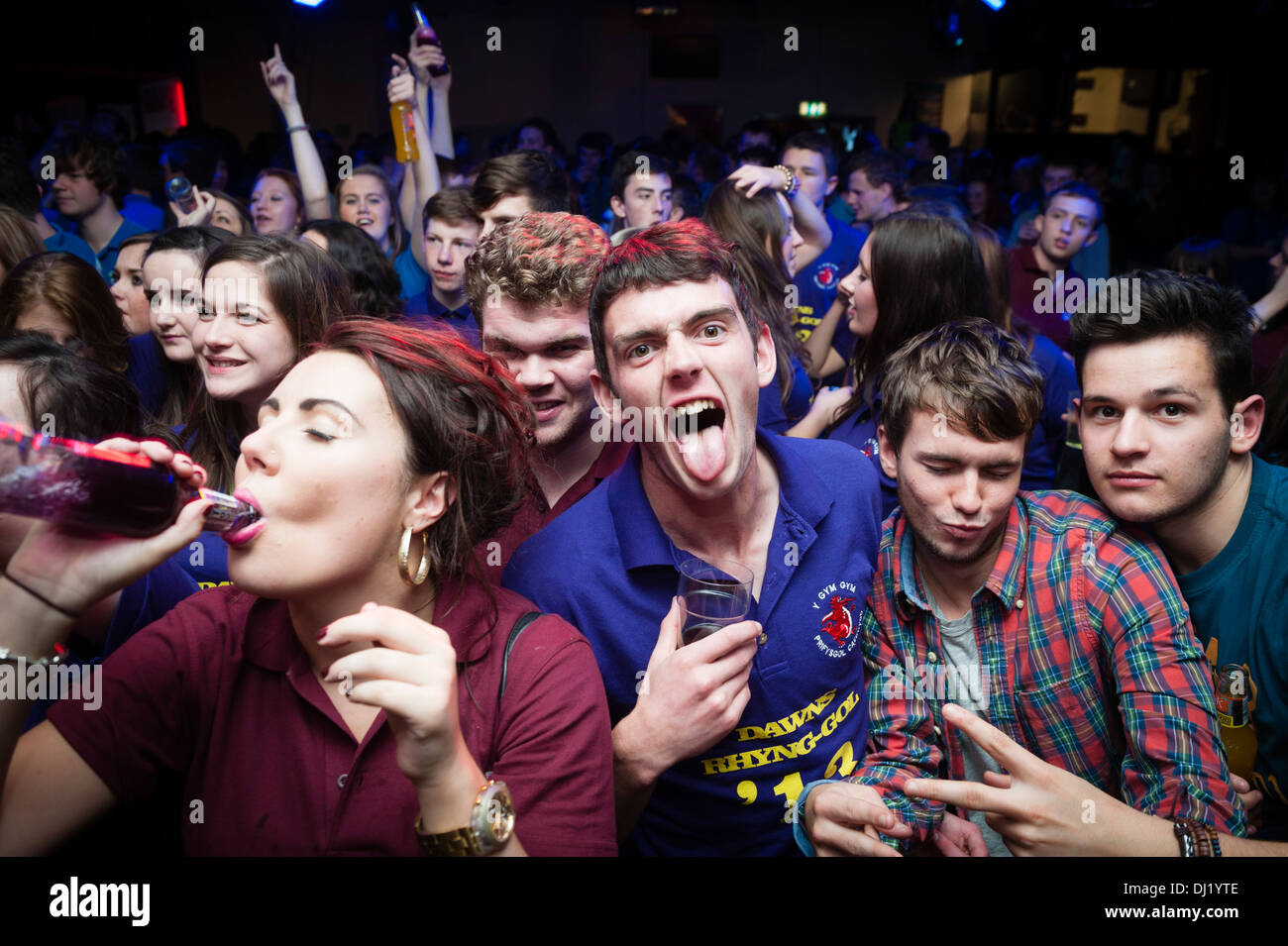 welsh university students partying at the annual inter college gig
