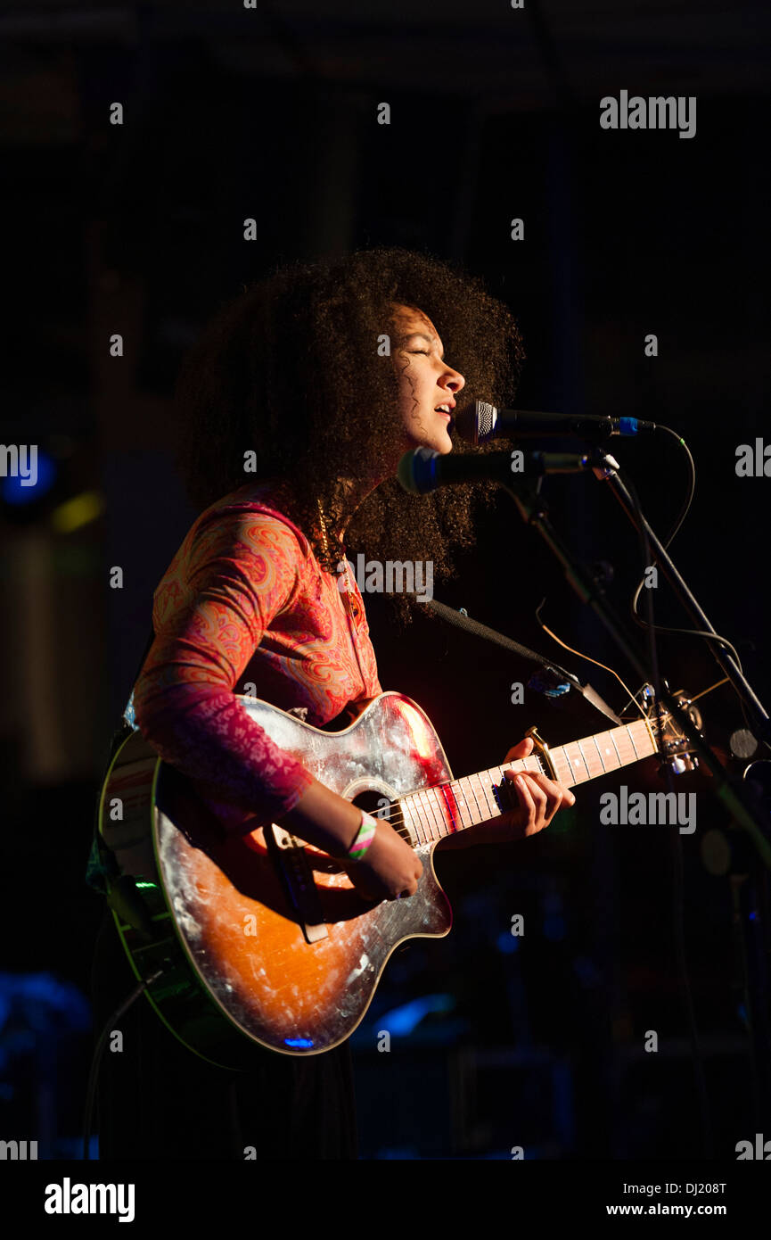KIZZY CRAWFORD playing at the annual inter-College gig, Aberystwyth University, 2013 - Stock Image