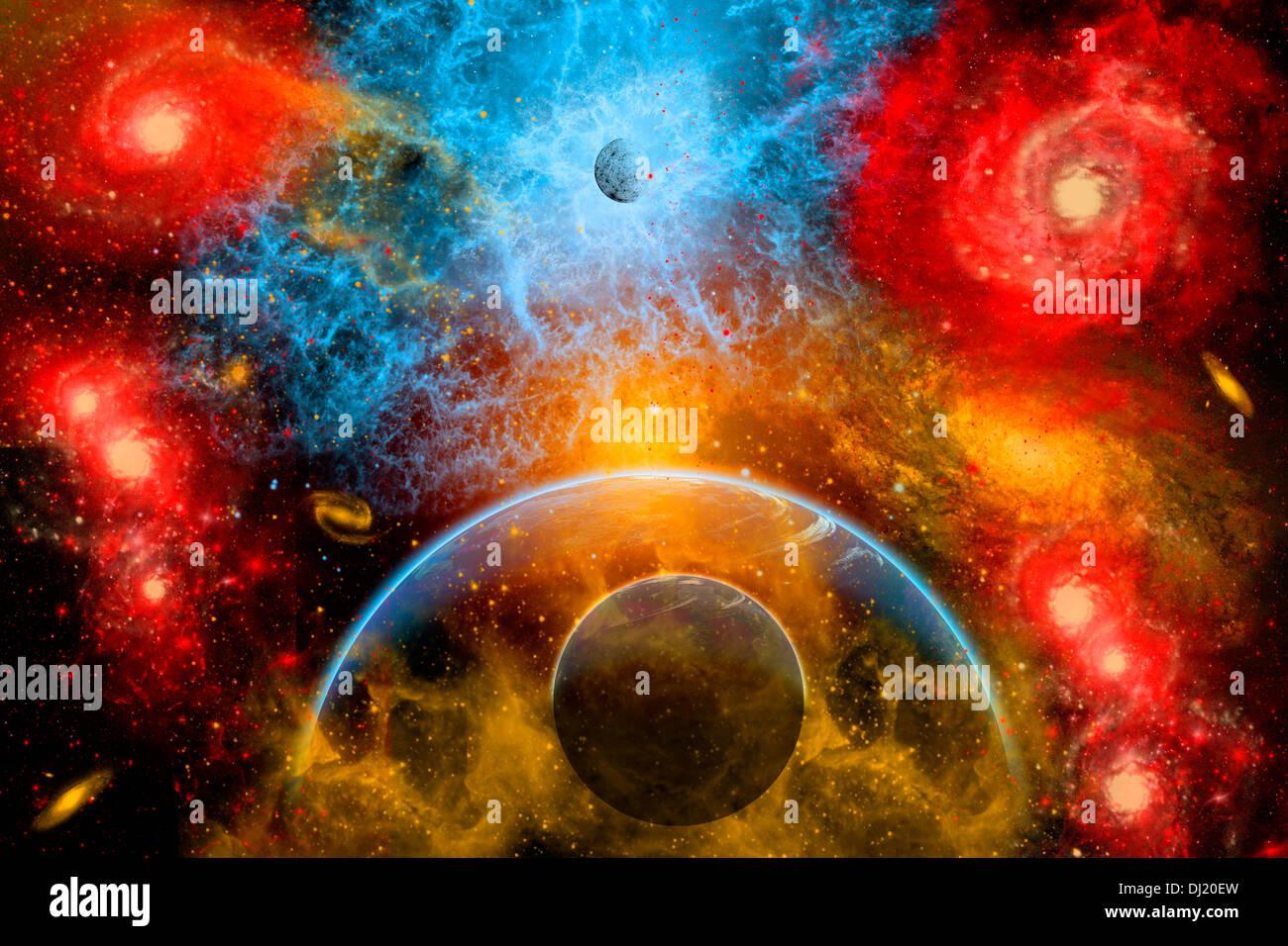 Planetary Nebulas. - Stock Image