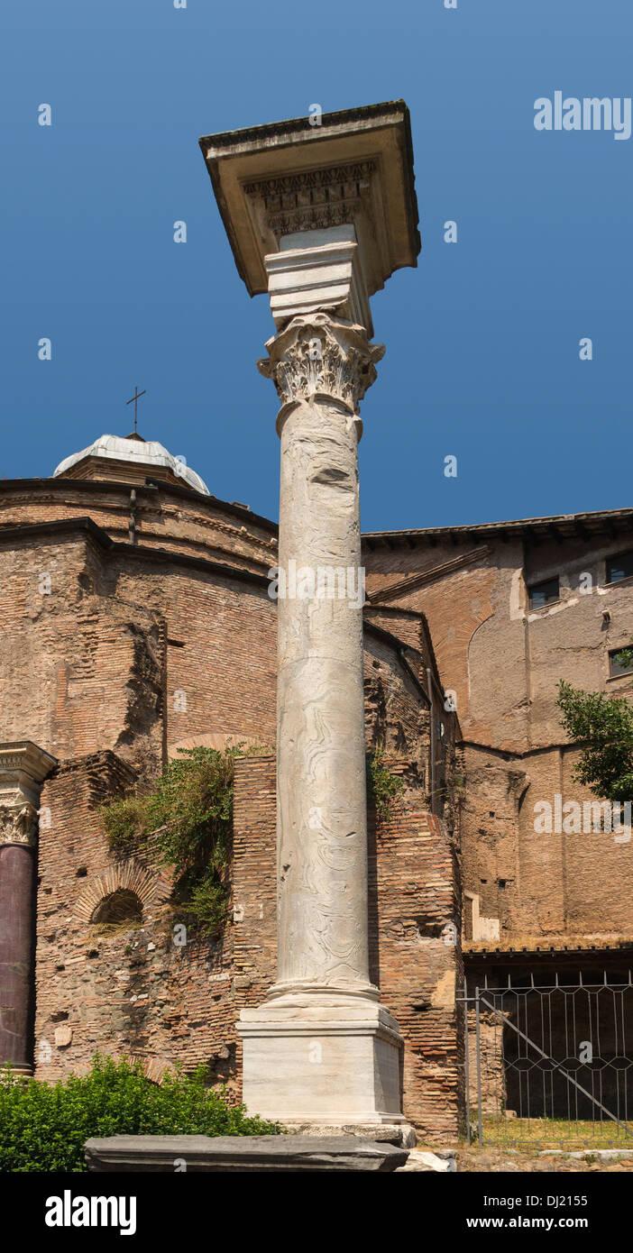 Temple of Romulus, Forum Romanum, Rome, Itay. - Stock Image