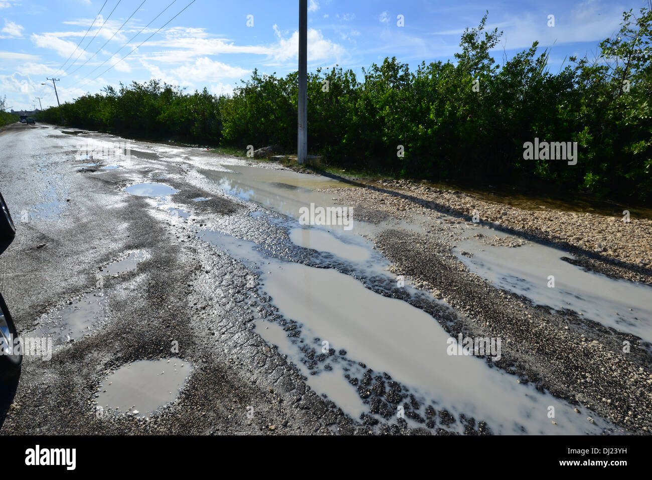 a flooded rutted road in mexico stock photo 62741941 alamy
