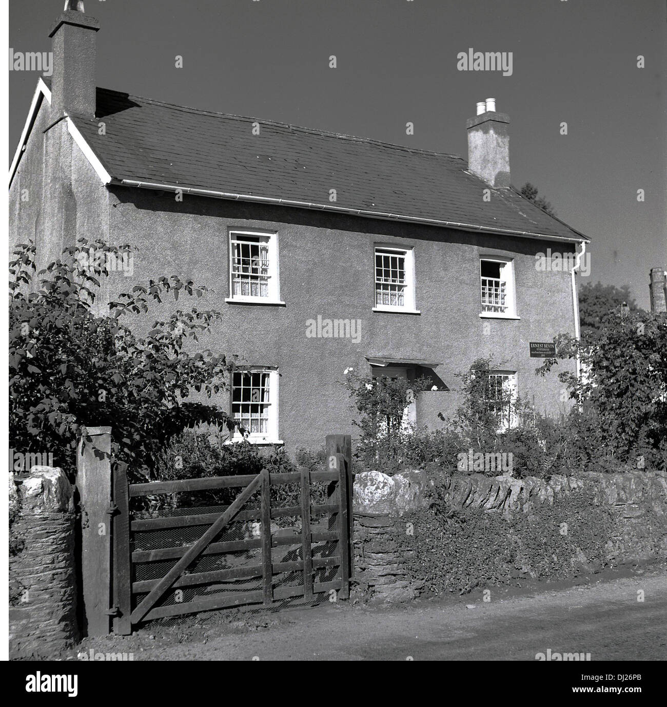 Historical picture,1950s, of the farm house in Tredegar, South Wales where Labour MP and Minister Aneurin 'Nye 'Bevan grew up. - Stock Image