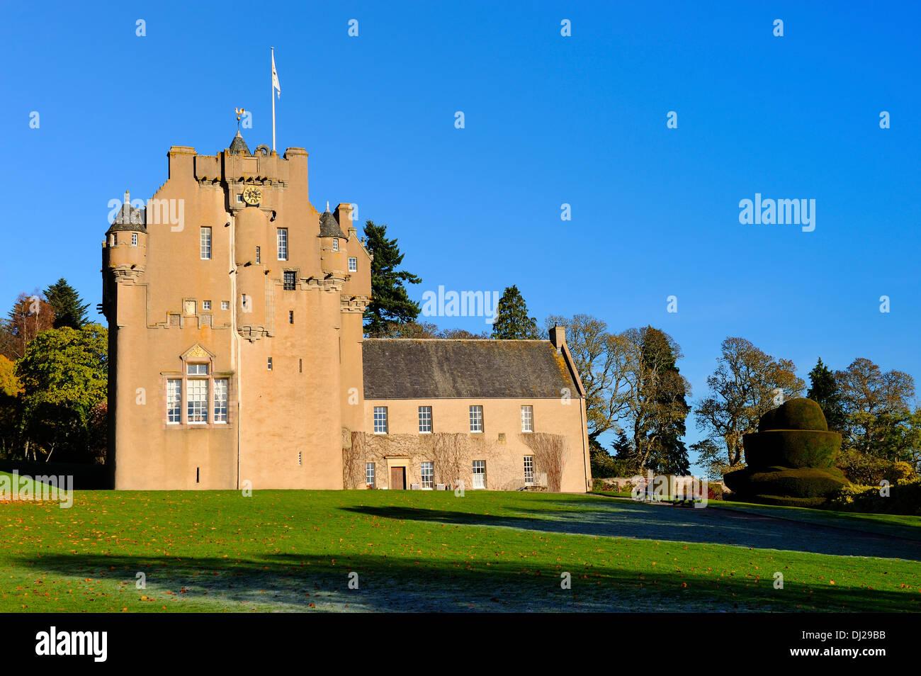 Crathes Castle near Banchory, Aberdeenshire, Scotland - Stock Image