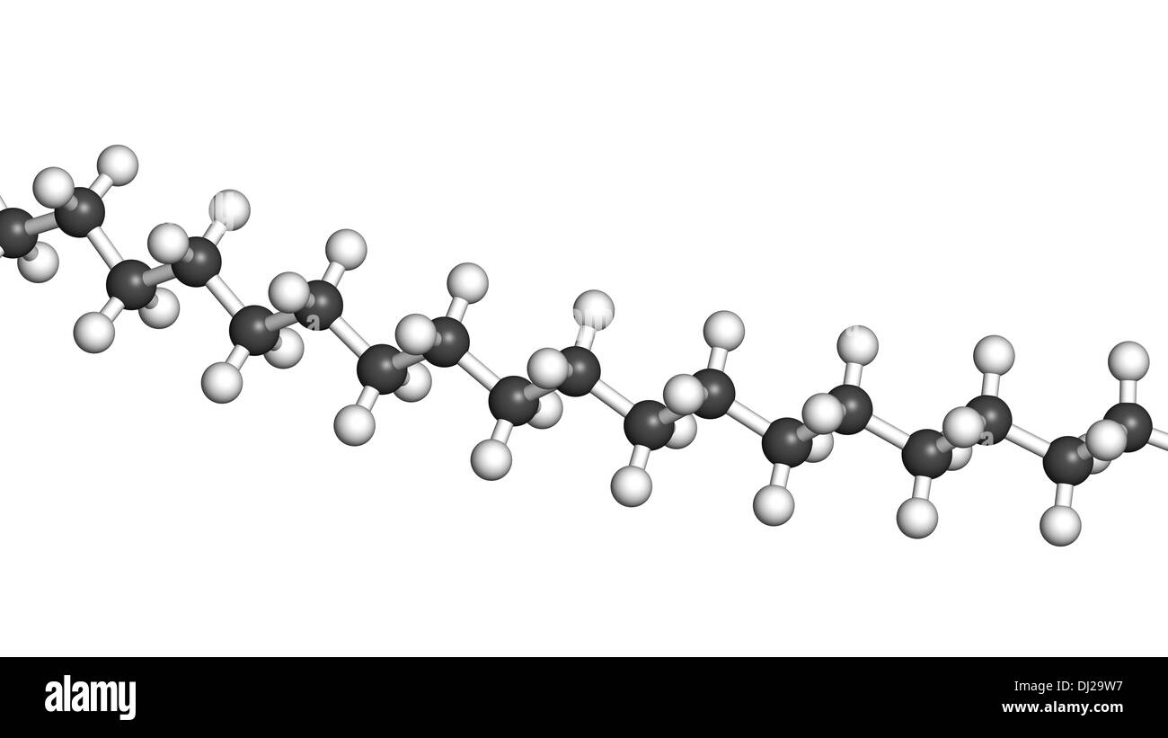 Polyethylene (PE, polythene, polyethene) plastic, chemical structure - linear fragment (detail). Stock Photo