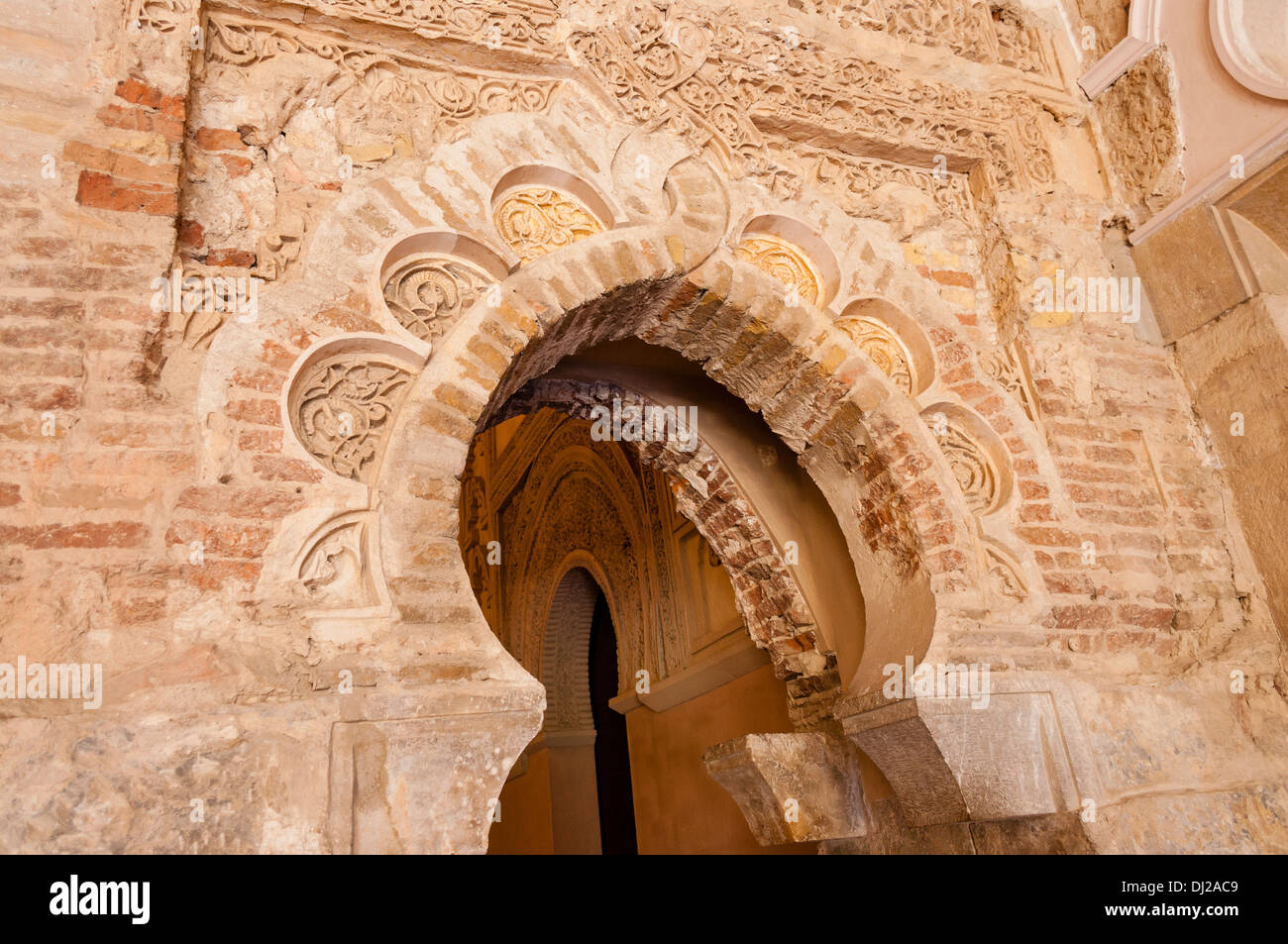 Palacio de la Aljafería, Zaragoza, Aragon, España - Stock Image