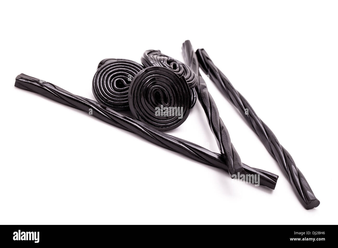 Licorice Spirals And Sticks - Stock Image