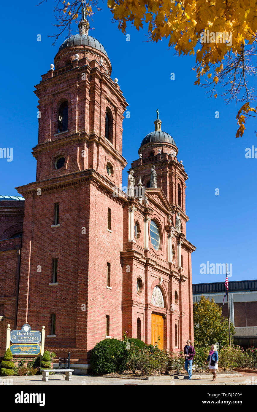 The Basilica of St Lawrence on Haywood Street in downtown Asheville, North Carolina, USA Stock Photo