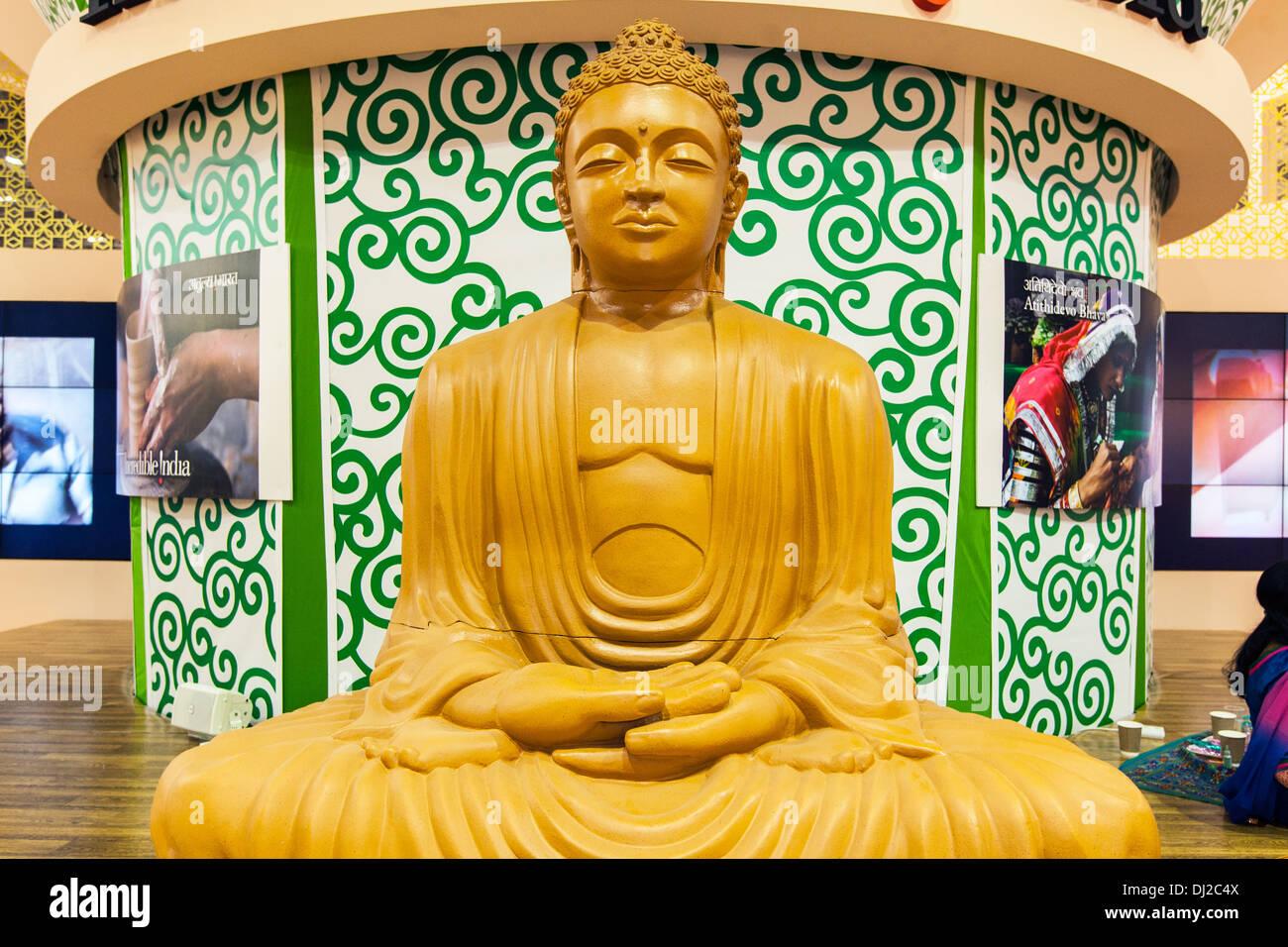 A Golden Buddha India - Stock Image