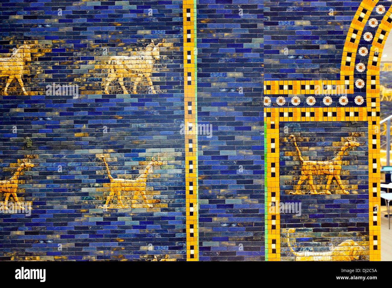 The Lion Gate Babylon Irak - Stock Image