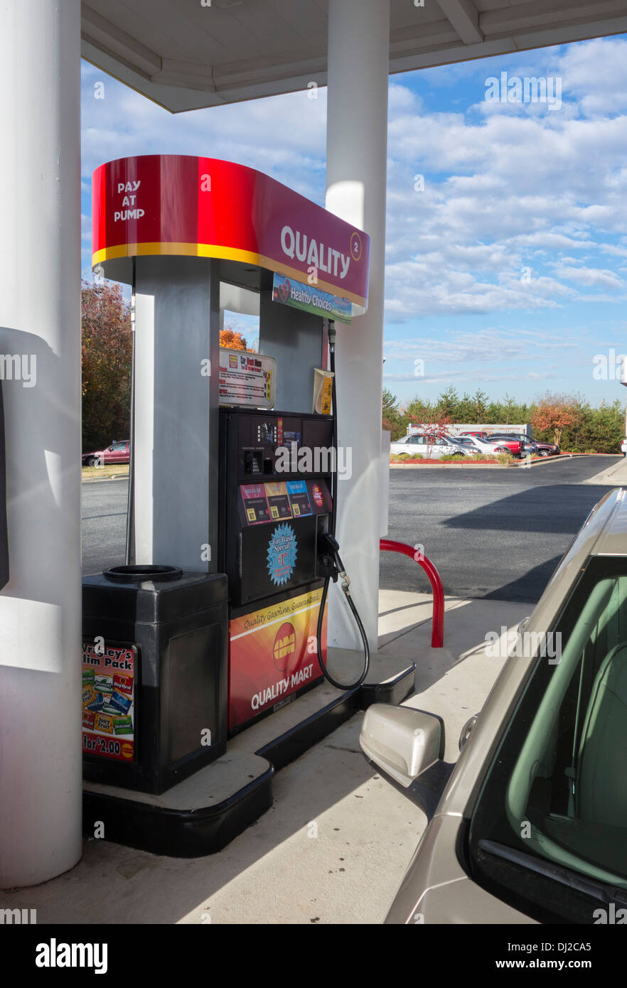 Gas Pump, USA - Stock Image