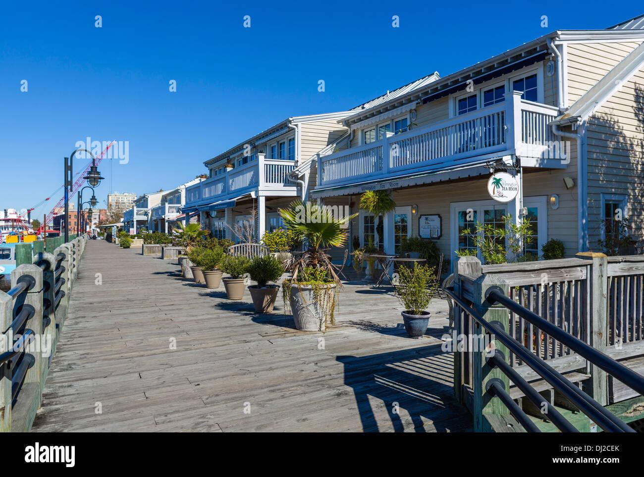 Shops And Restaurants On Wilmington Downtown Riverwalk Wilmington