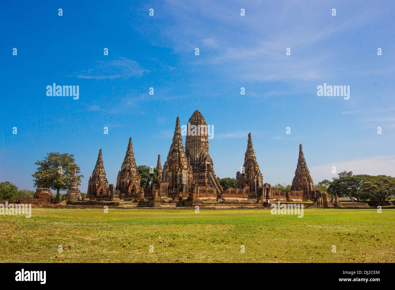 Wat Chaiwatthanaram,Tem ple of Ayutthaya Historical, Thailand - Stock Image
