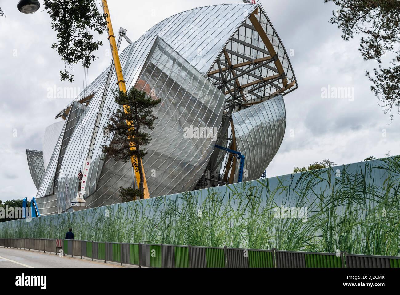 Fondation Louis Vuitton Bois de Boulogne Paris - Stock Image