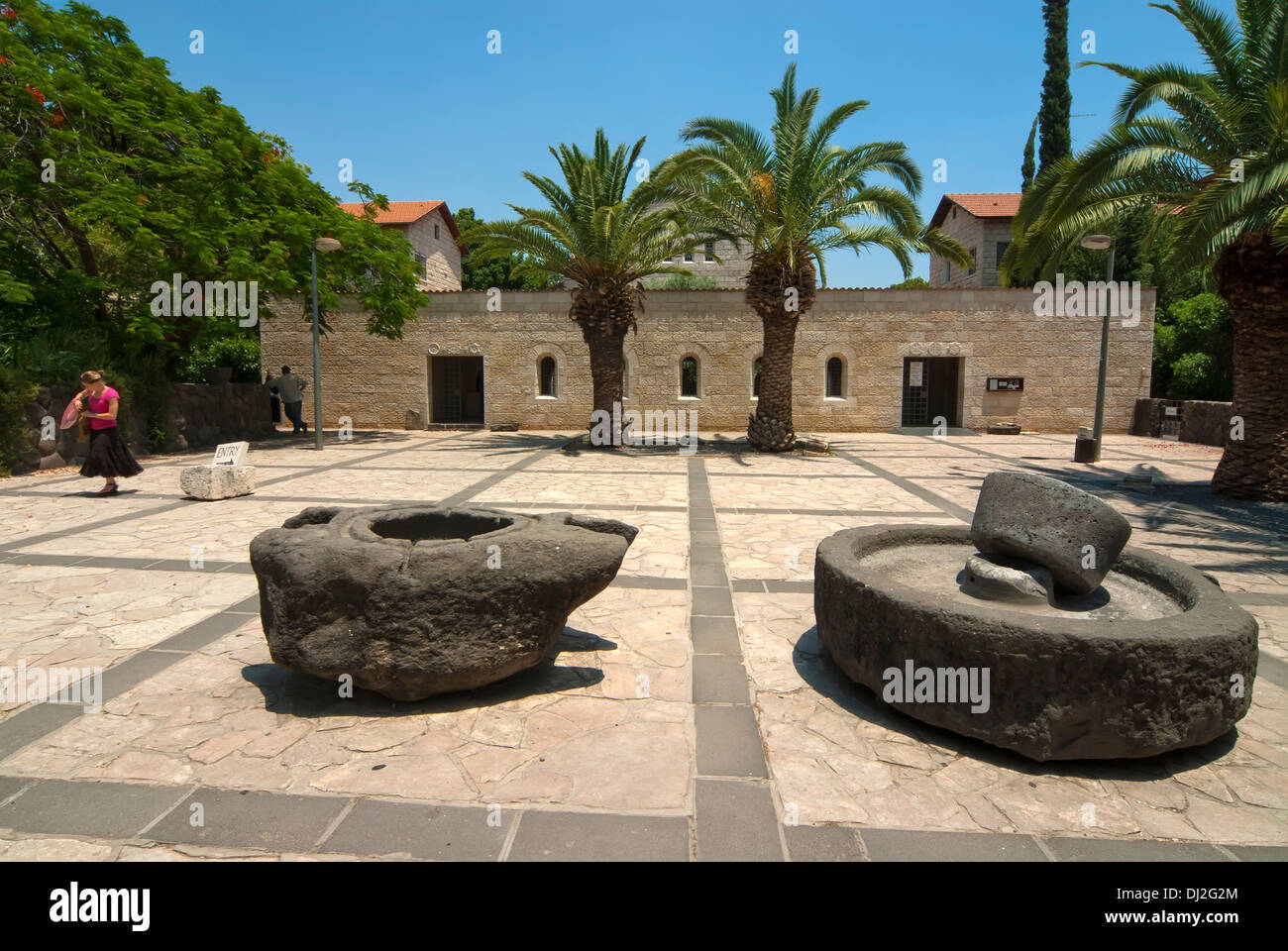 Church of the Multiplication of the Loaves and Fishes, Capernaum, Israel Stock Photo