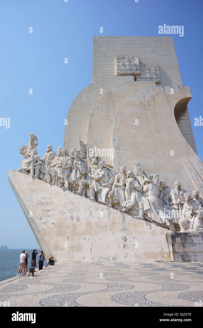 Monument to the Discoveries Lisbon Padrão dos Descobrimentos Lisboa - Stock Image