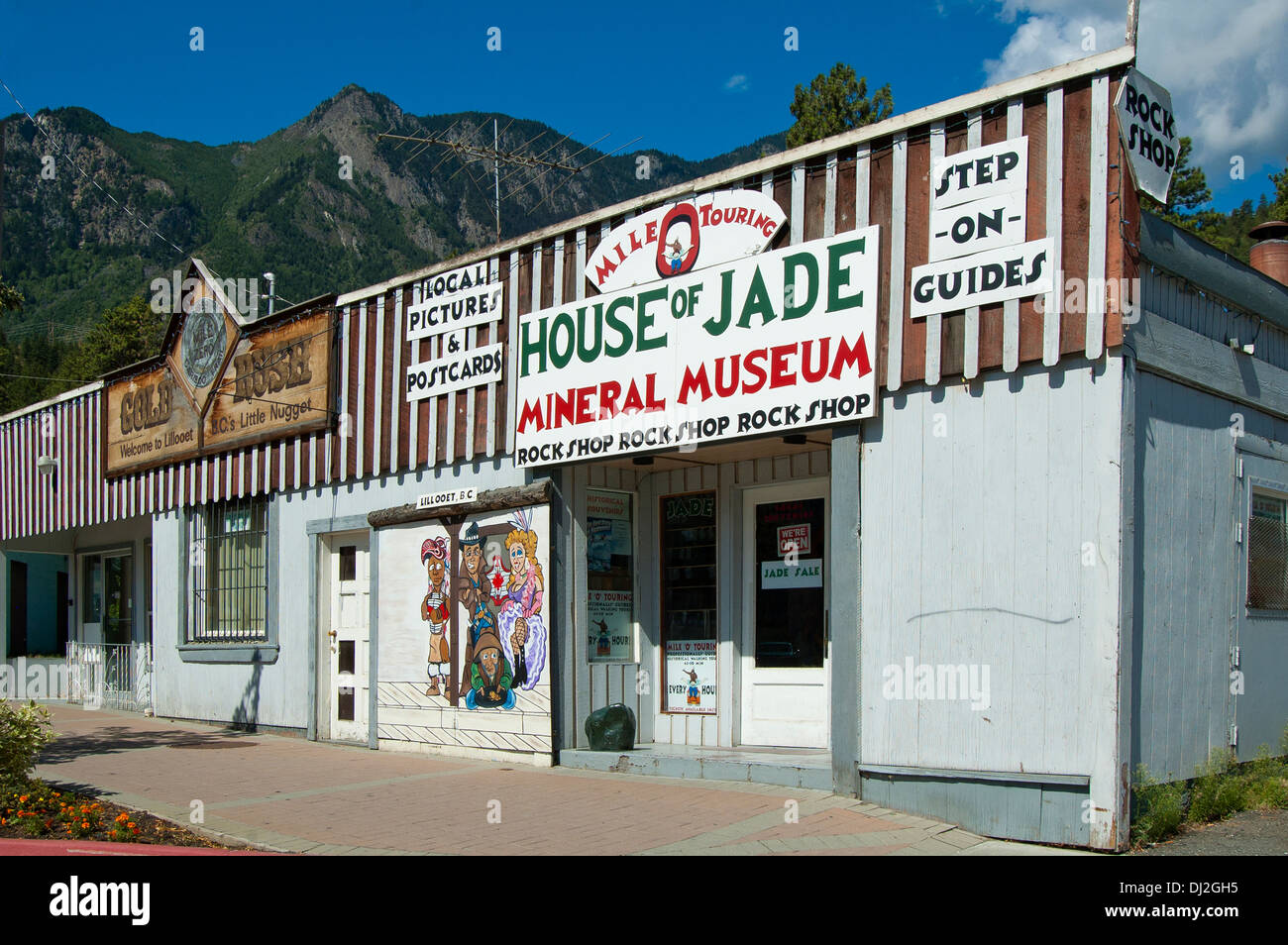 House of Jade in Lillooet, BC, Canada - Stock Image