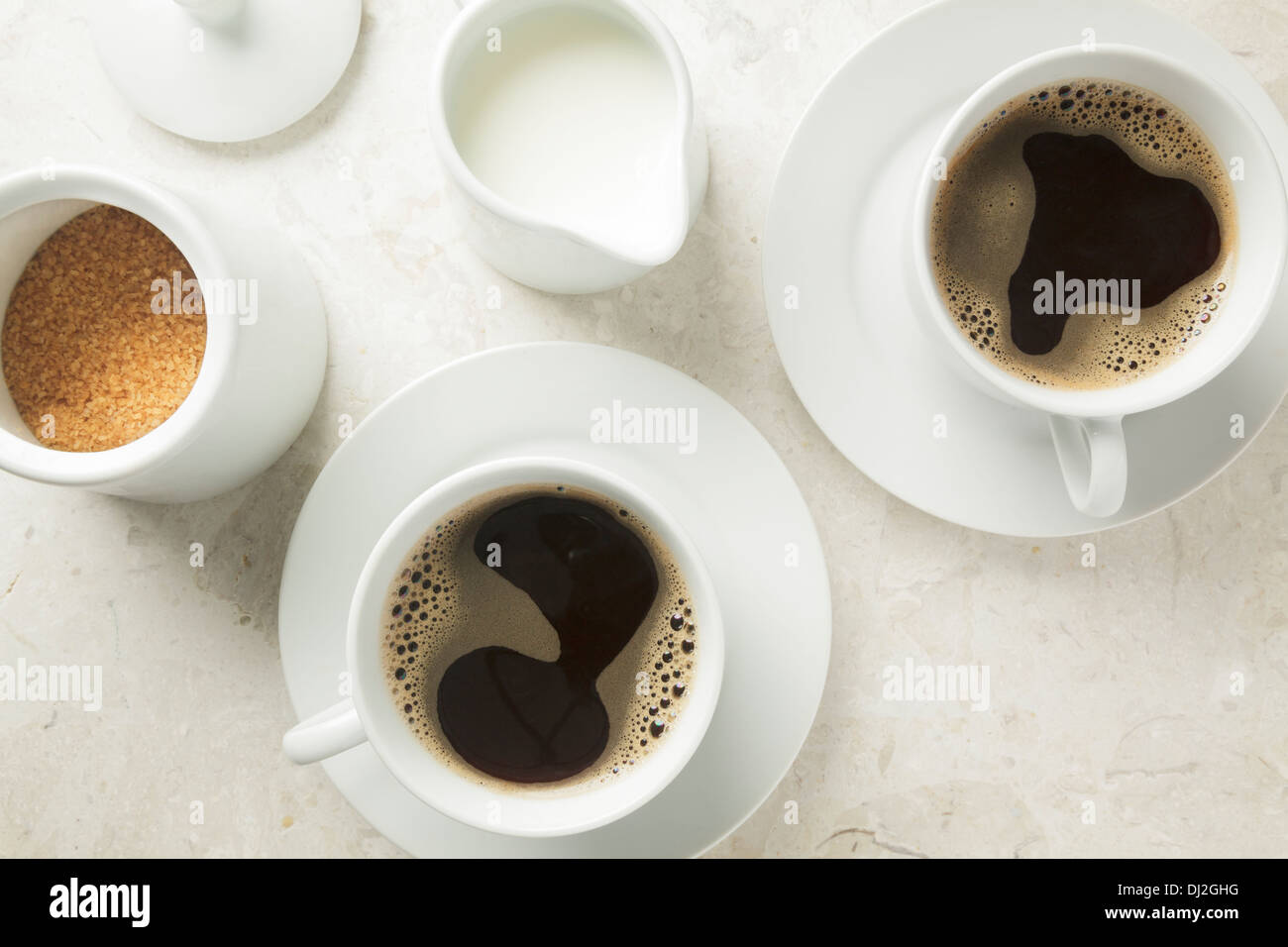 two cups of coffee - Stock Image
