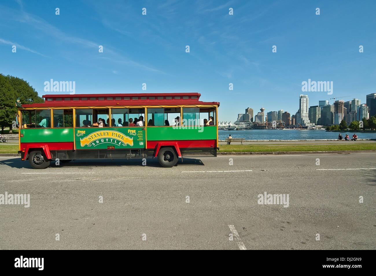 Stanley park Shuttle bus - Stock Image