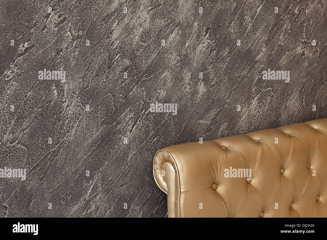 detail of interior wall decorative plaster Stock Photo