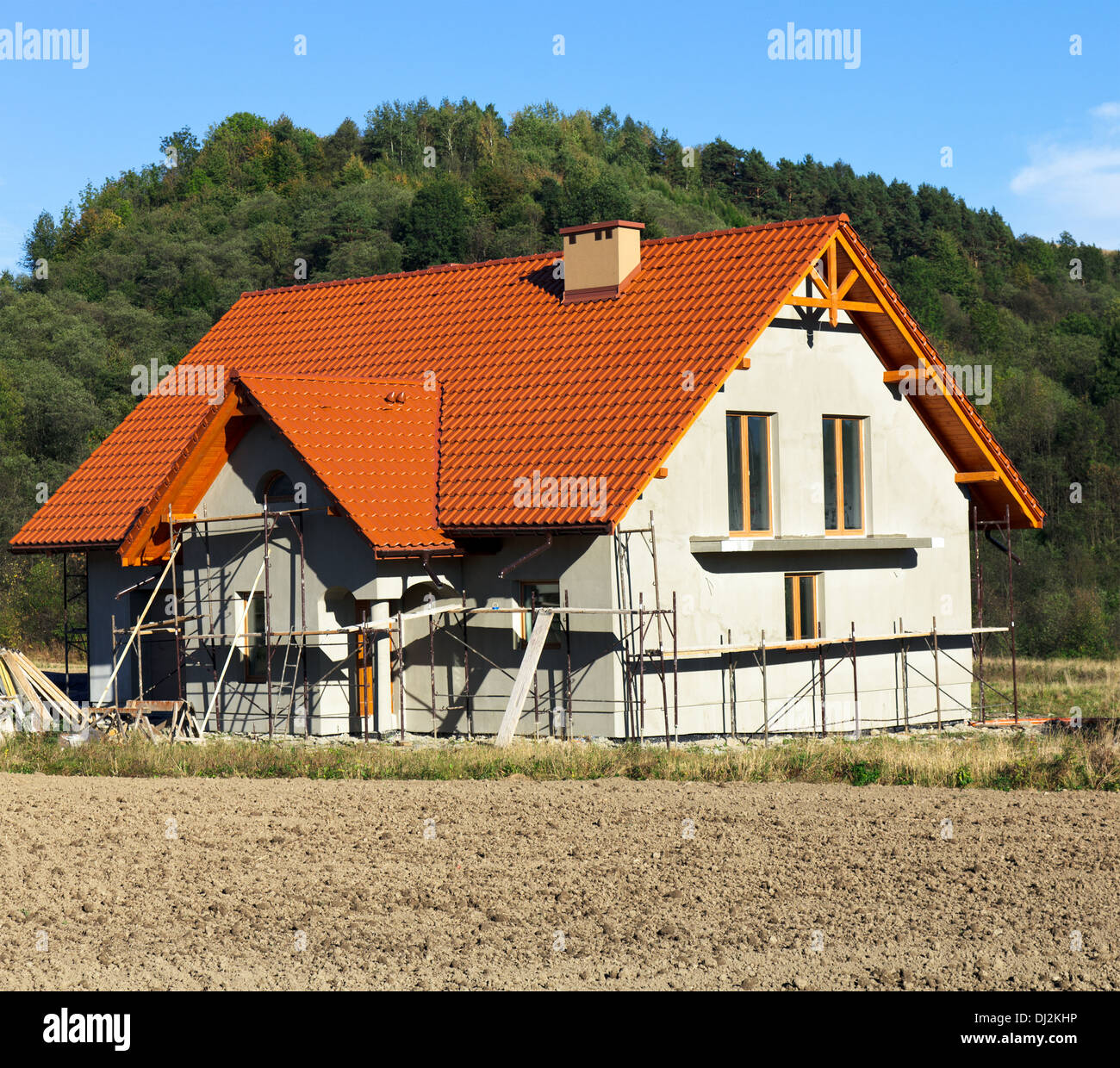 New Rural House - Stock Image