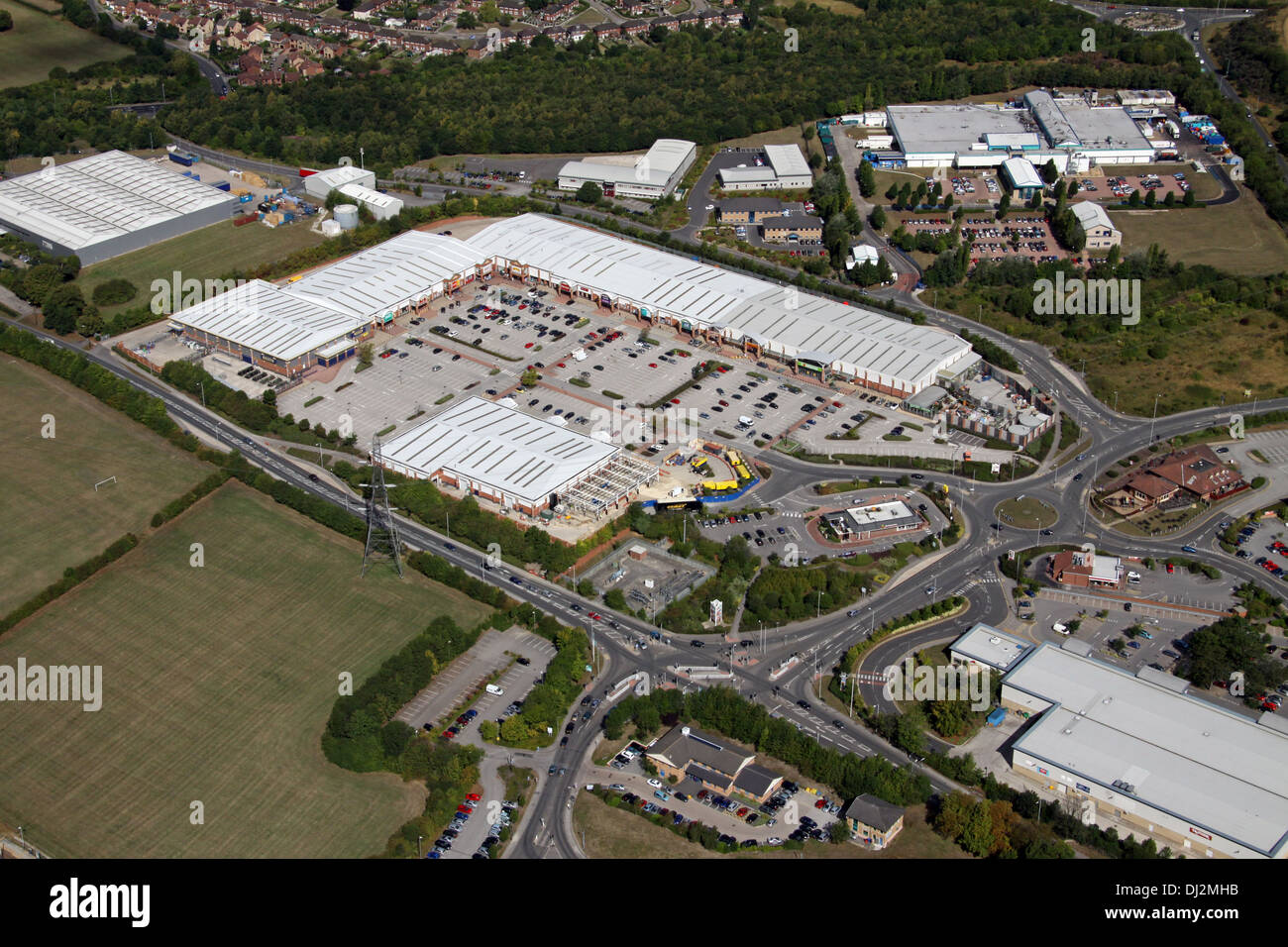 Aerial View Of Drake House Retail Park Near Sheffield, Adjacent To Crystal  Peaks