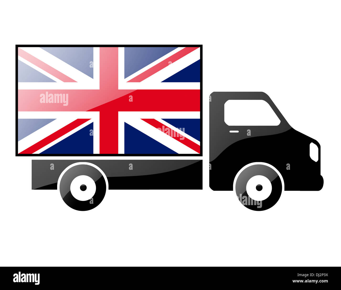 The British flag - Stock Image
