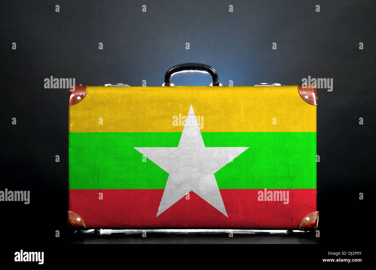 The Myanmar flag Stock Photo
