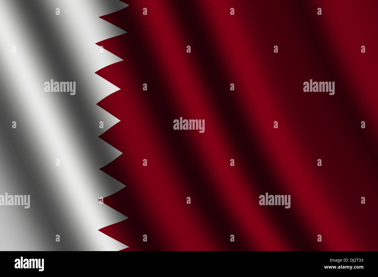 The Qatari flag Stock Photo