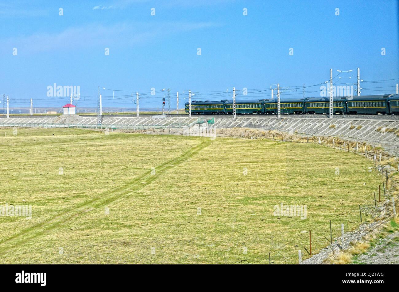 Tibet railway - Stock Image