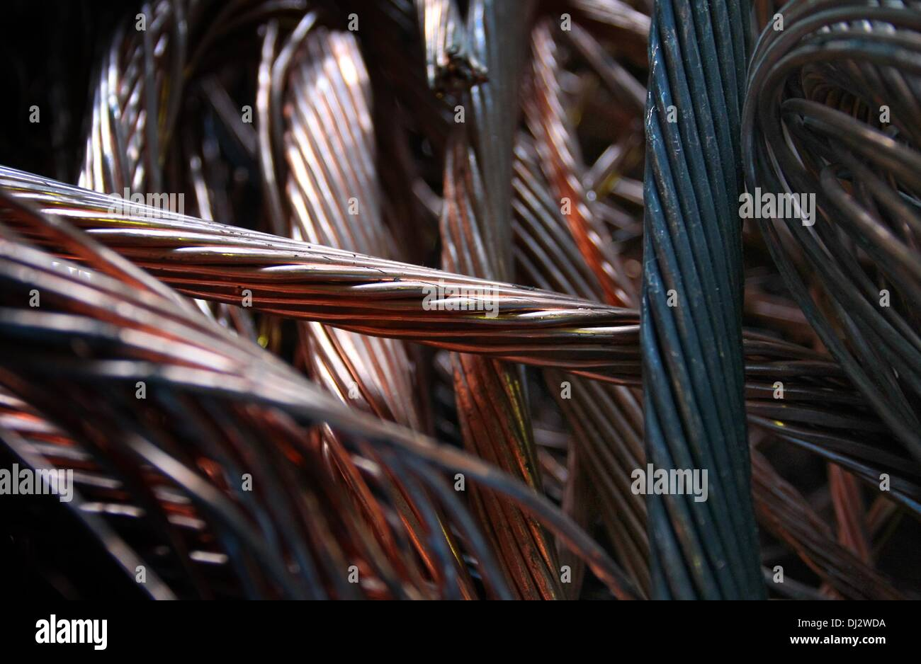 Copper Wires Recycling Scrap Metal Stock Photos & Copper Wires ...