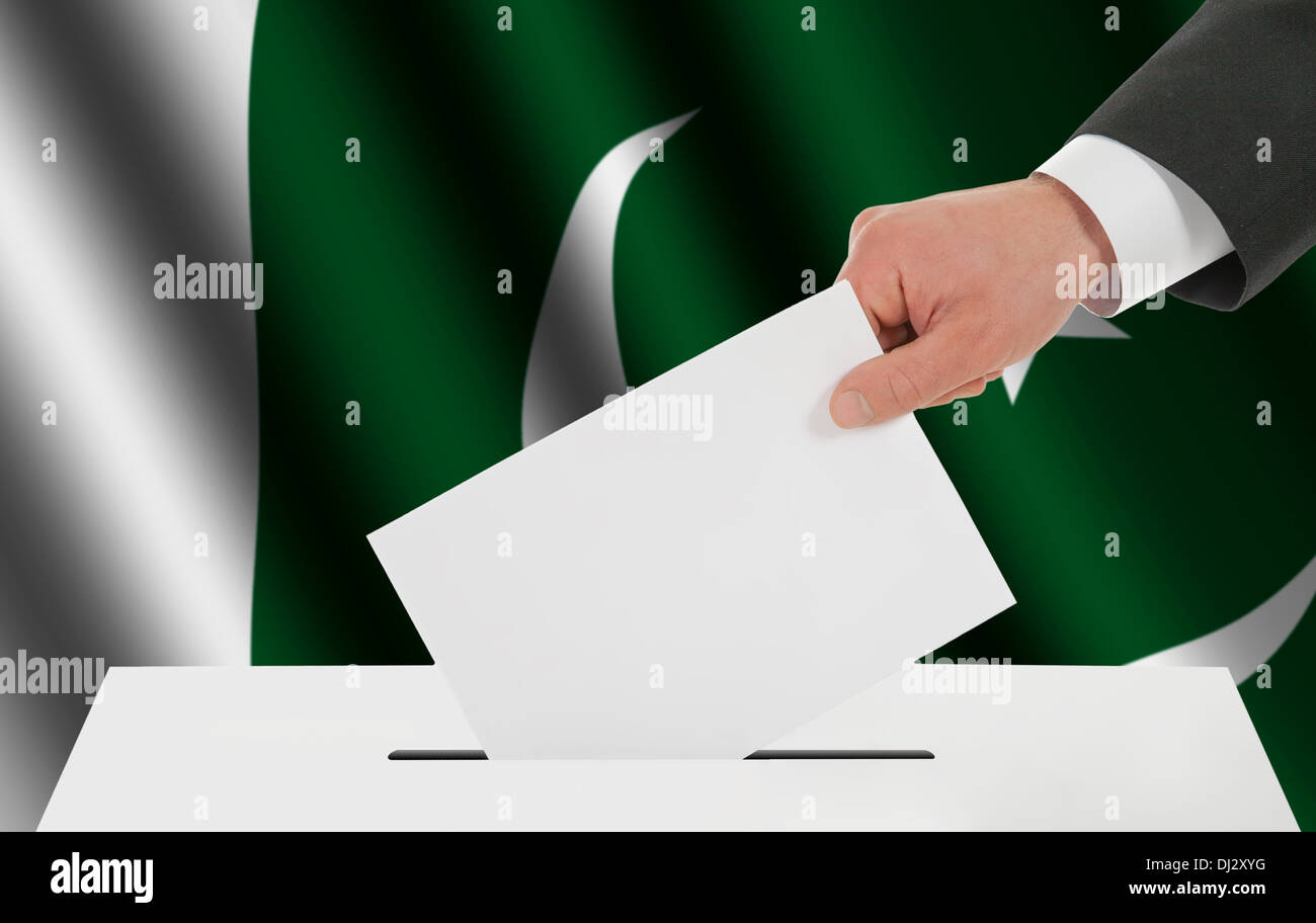 The Pakistani flag - Stock Image
