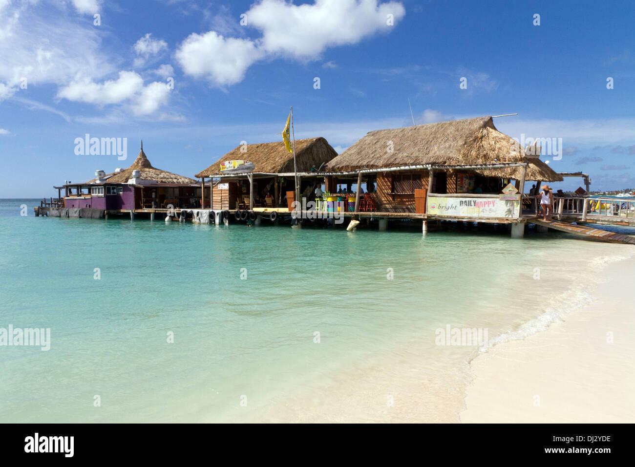 Pelican Pier On The Palm Beach Strip On Aruba Stock Photo 62760362 Alamy
