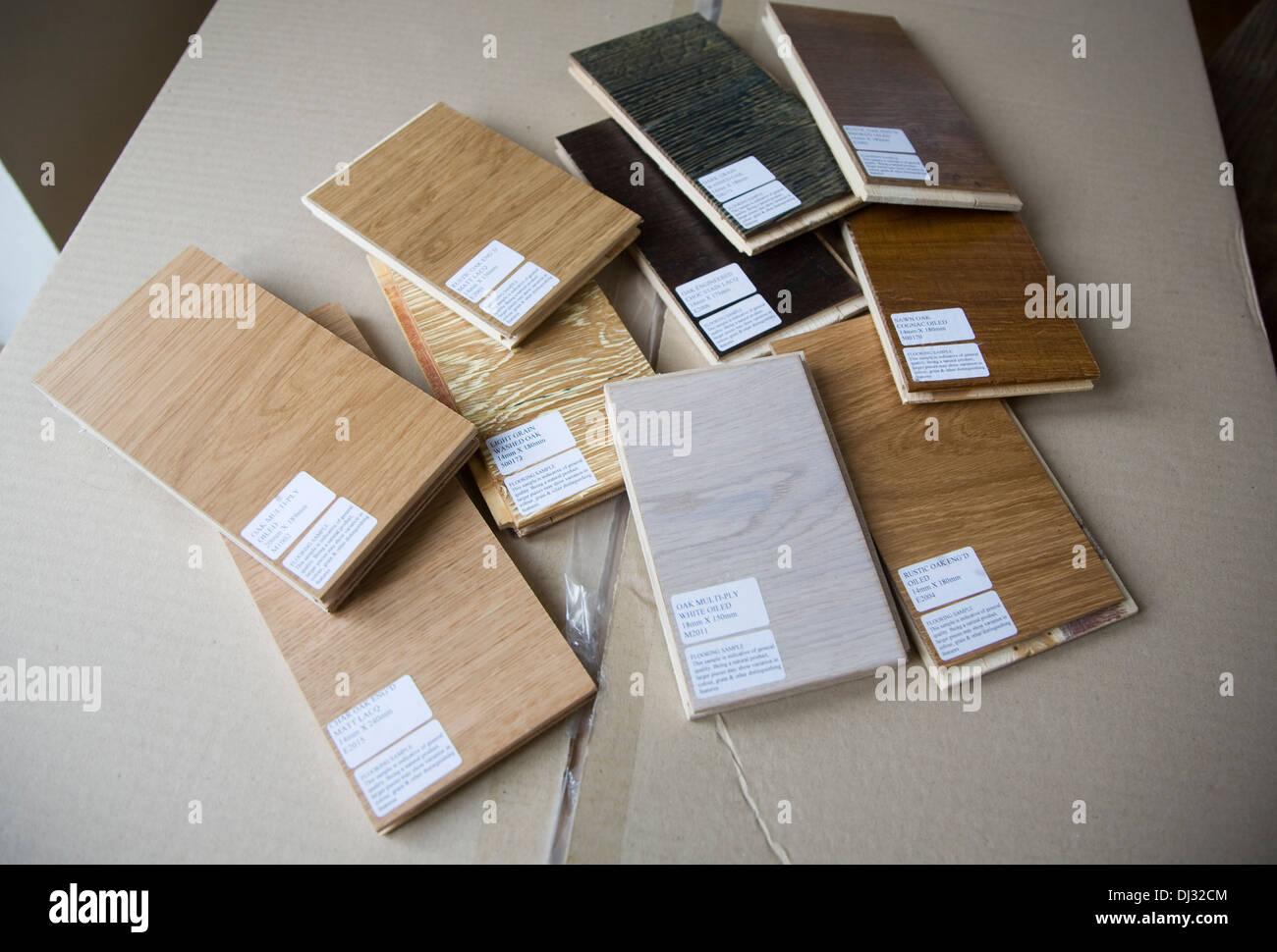 Sample wooden floor tiles - Stock Image