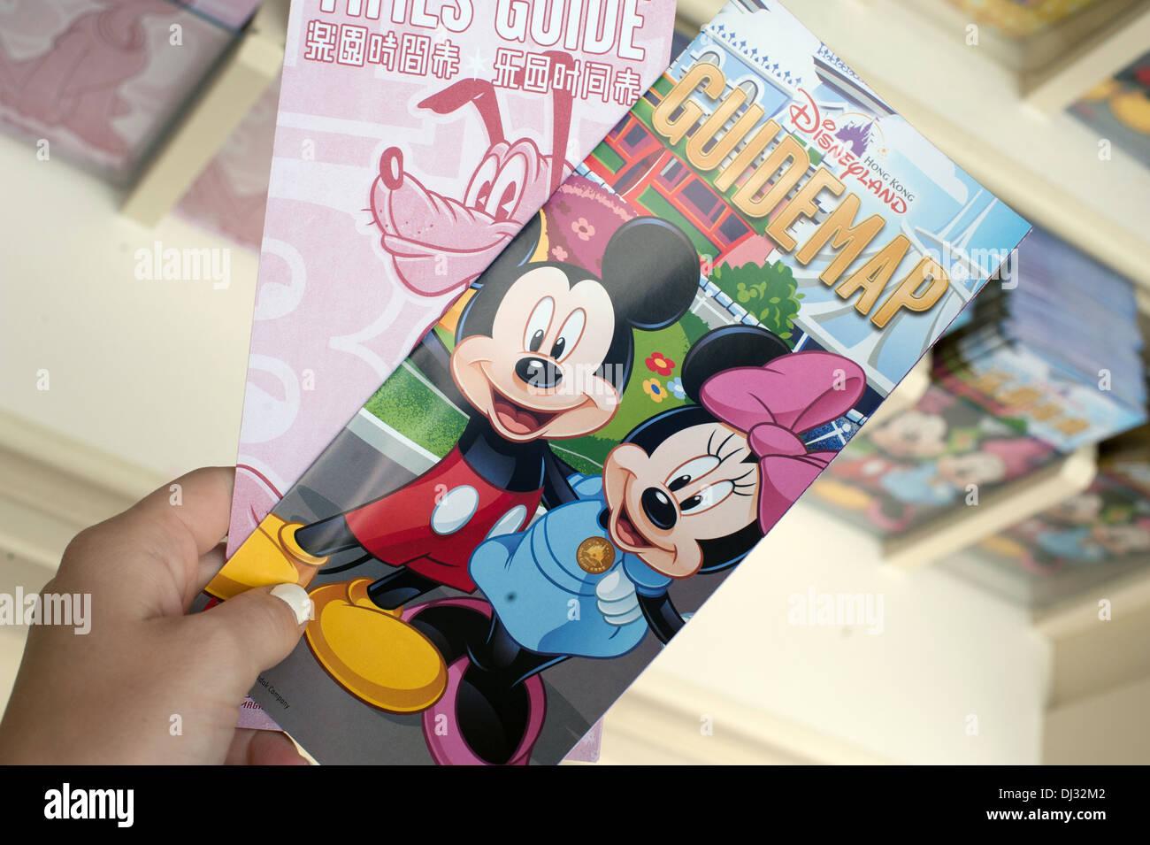 Hong Kong Disneyland Resort Guide Map Stock Photo 62762898 Alamy