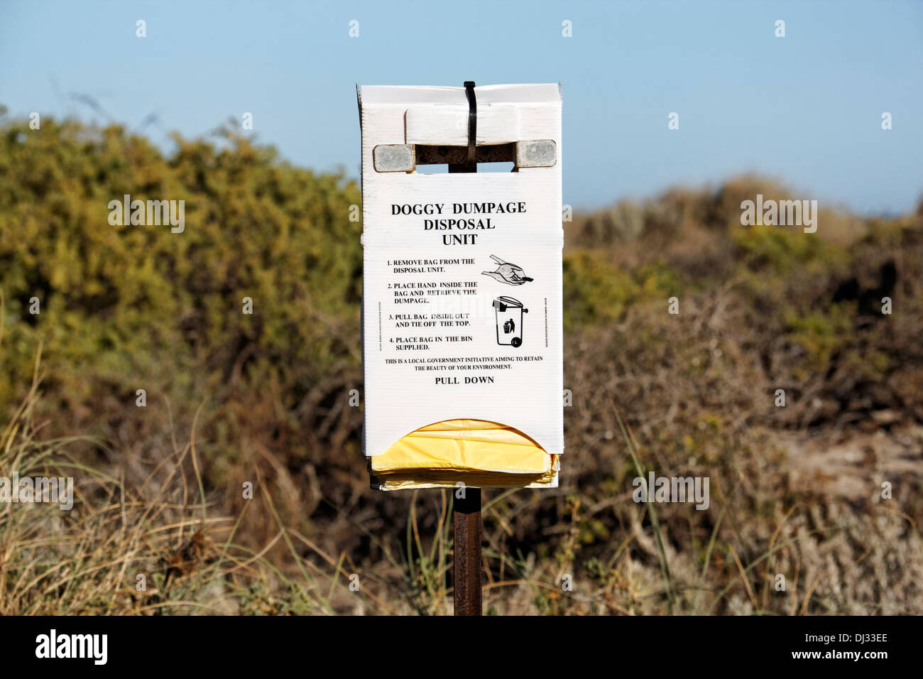 Doggy dump disposal unit, Dongara Western Australia - Stock Image