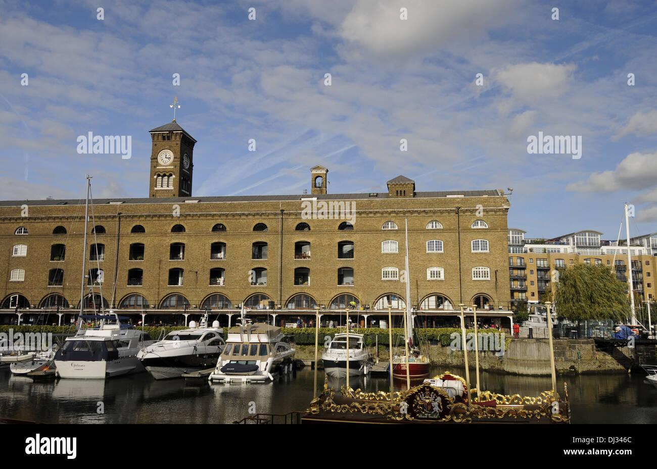 St Katharine's Dock London England - Stock Image