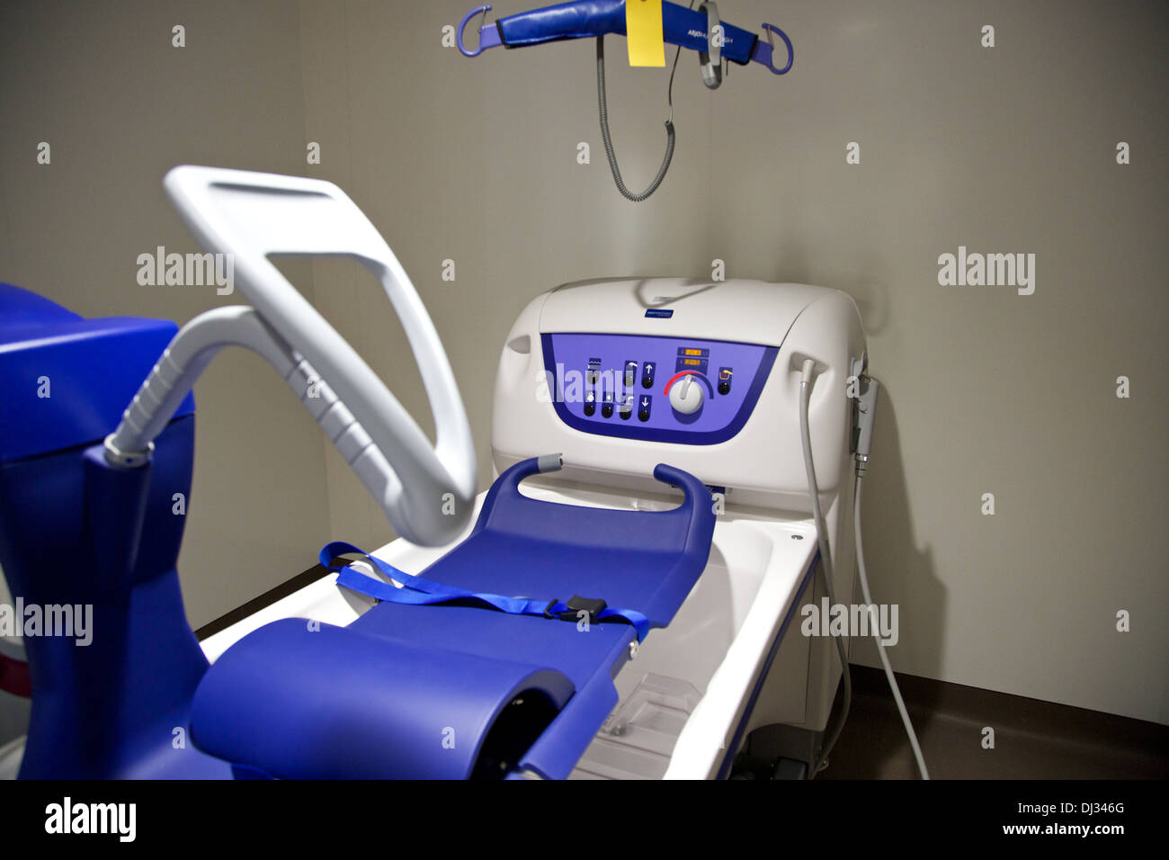 Automatic assisted bath lift in a new hospital facility for Stock ...