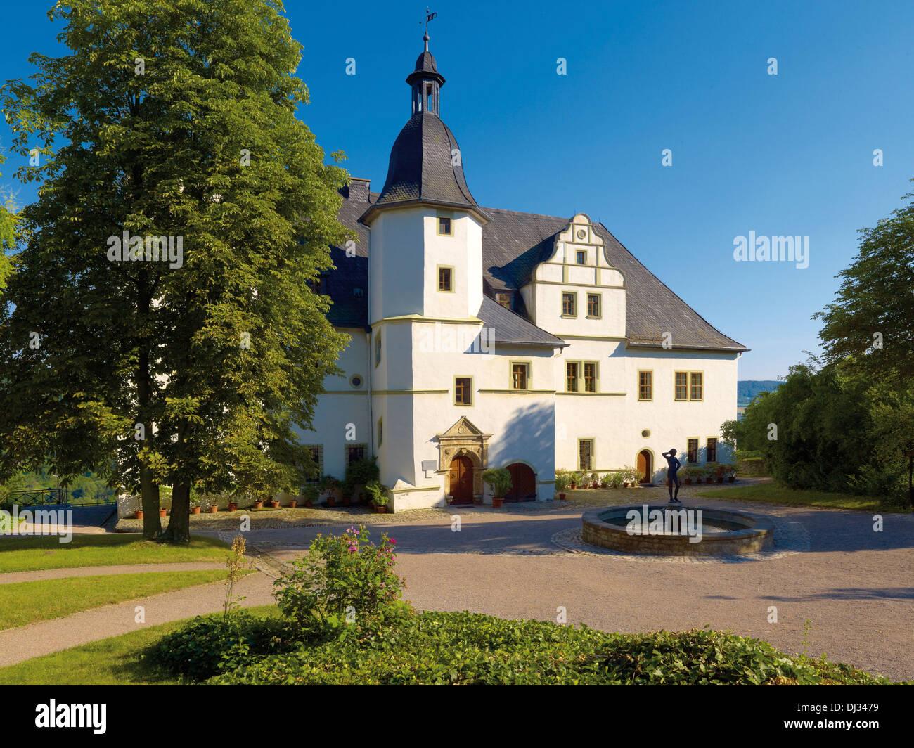 Renaissance castle, Dornburg castles, Dornburg, Thuringia, Germany - Stock Image