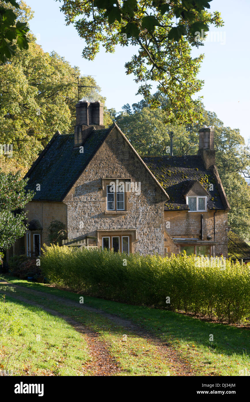 A Pretty Cottage In The Woods Grounds Of Batsford Arboretum Cotswolds UK