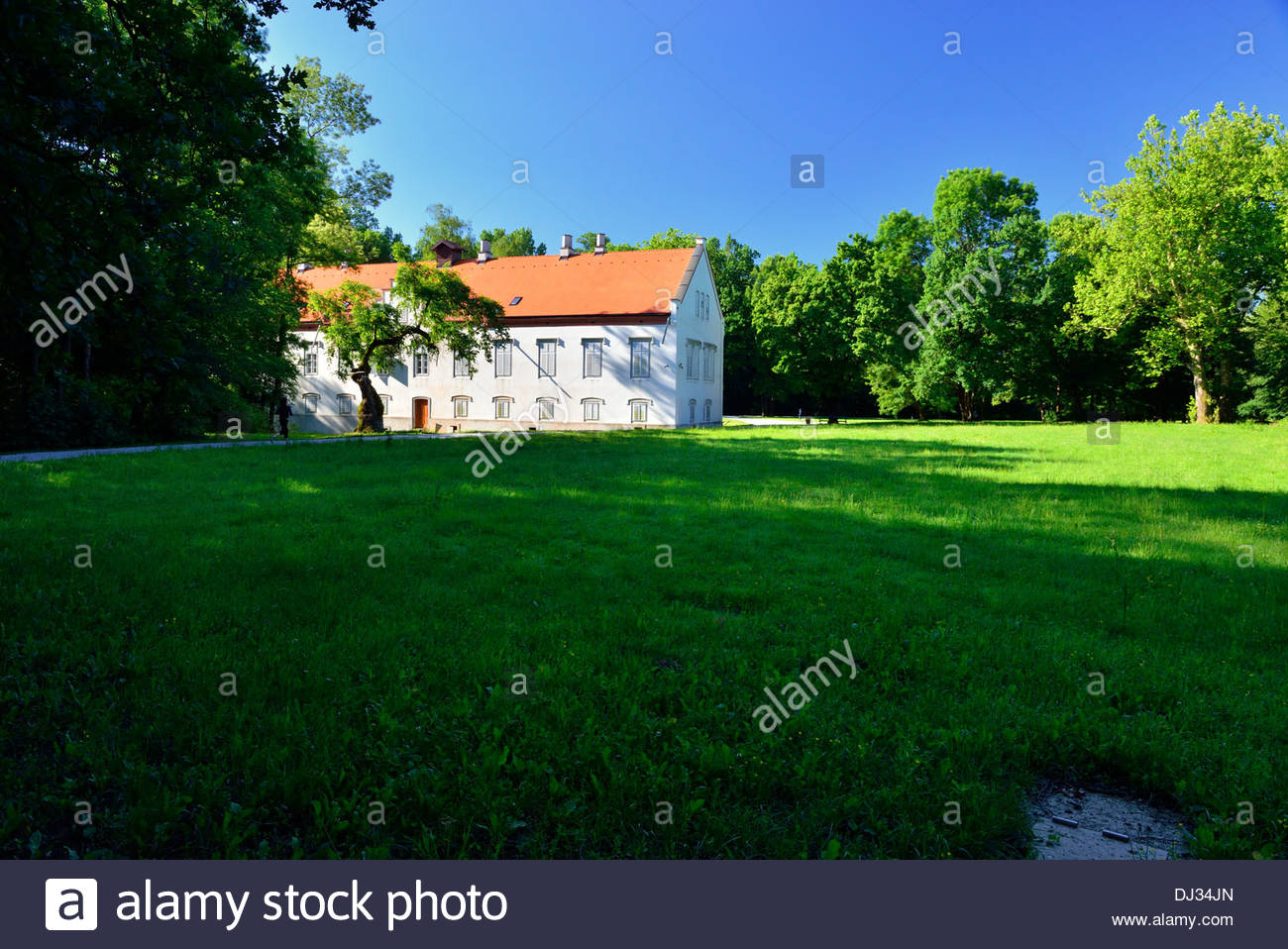ban Josip Jelacic castle Novi dvori in Zapresic, Croatia Stock Photo