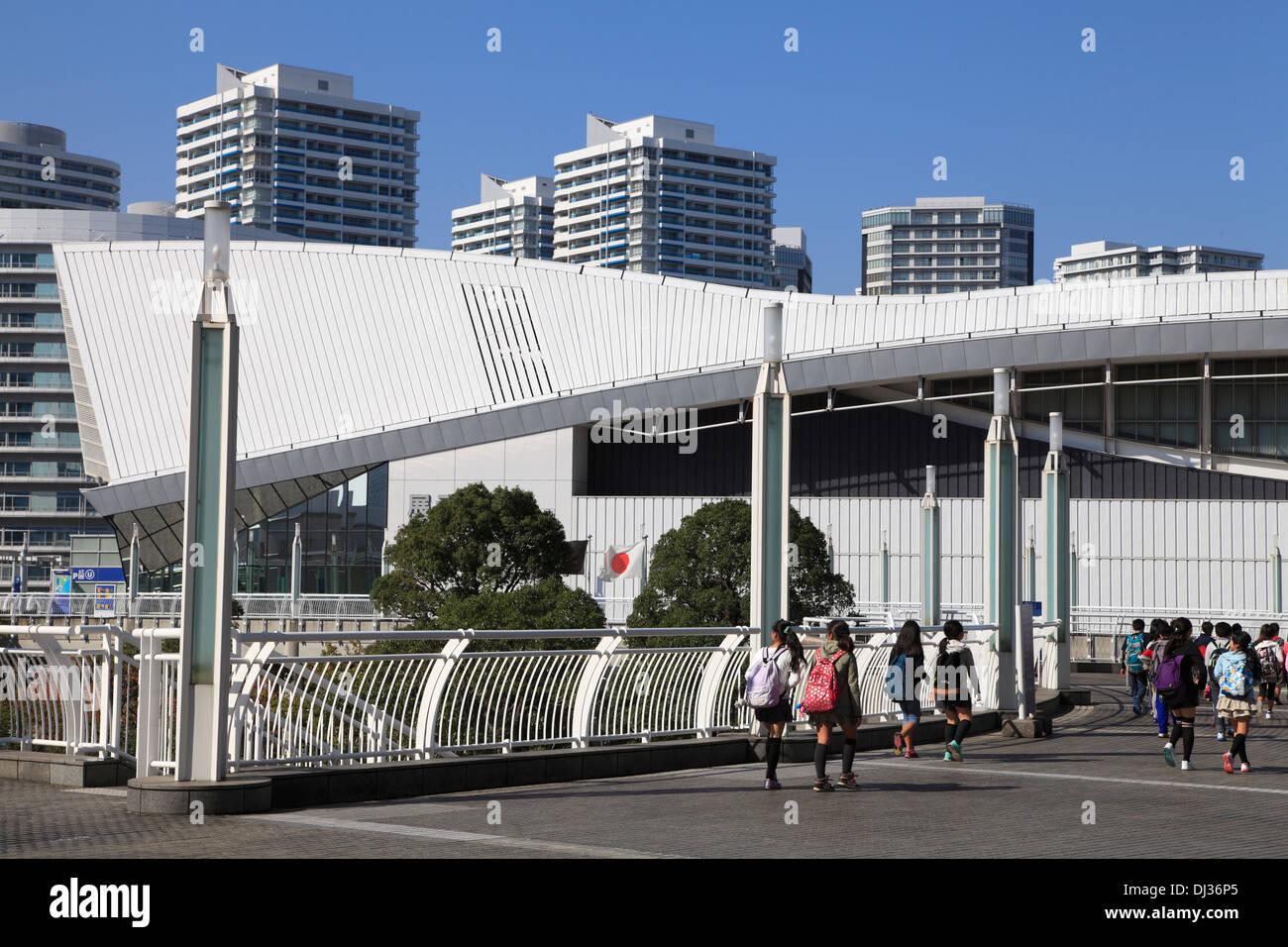 Japan, Yokohama, Minato Mirai, Exhibition Hall, - Stock Image