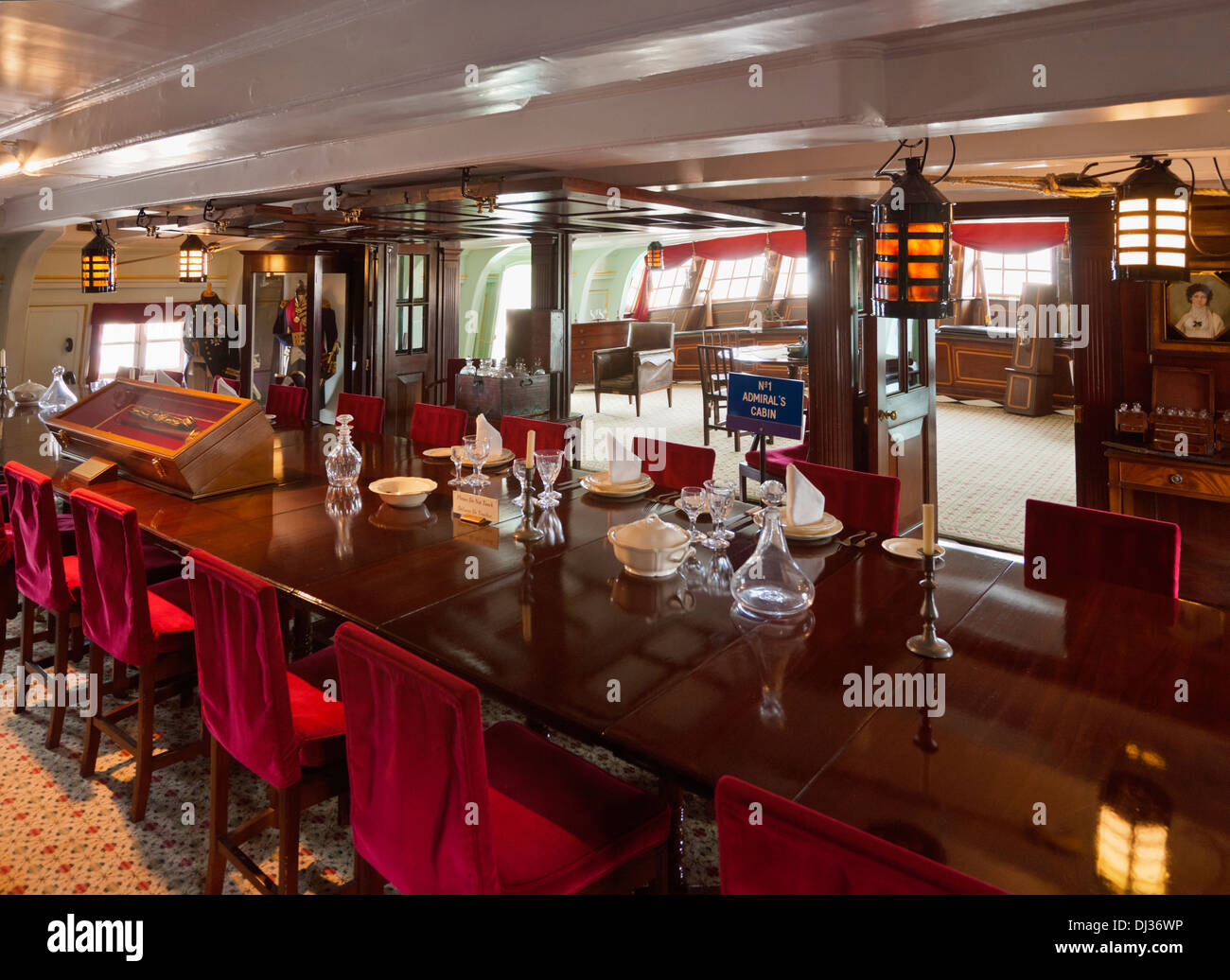 The Great Cabin Dining Room Interior On Hms Victory