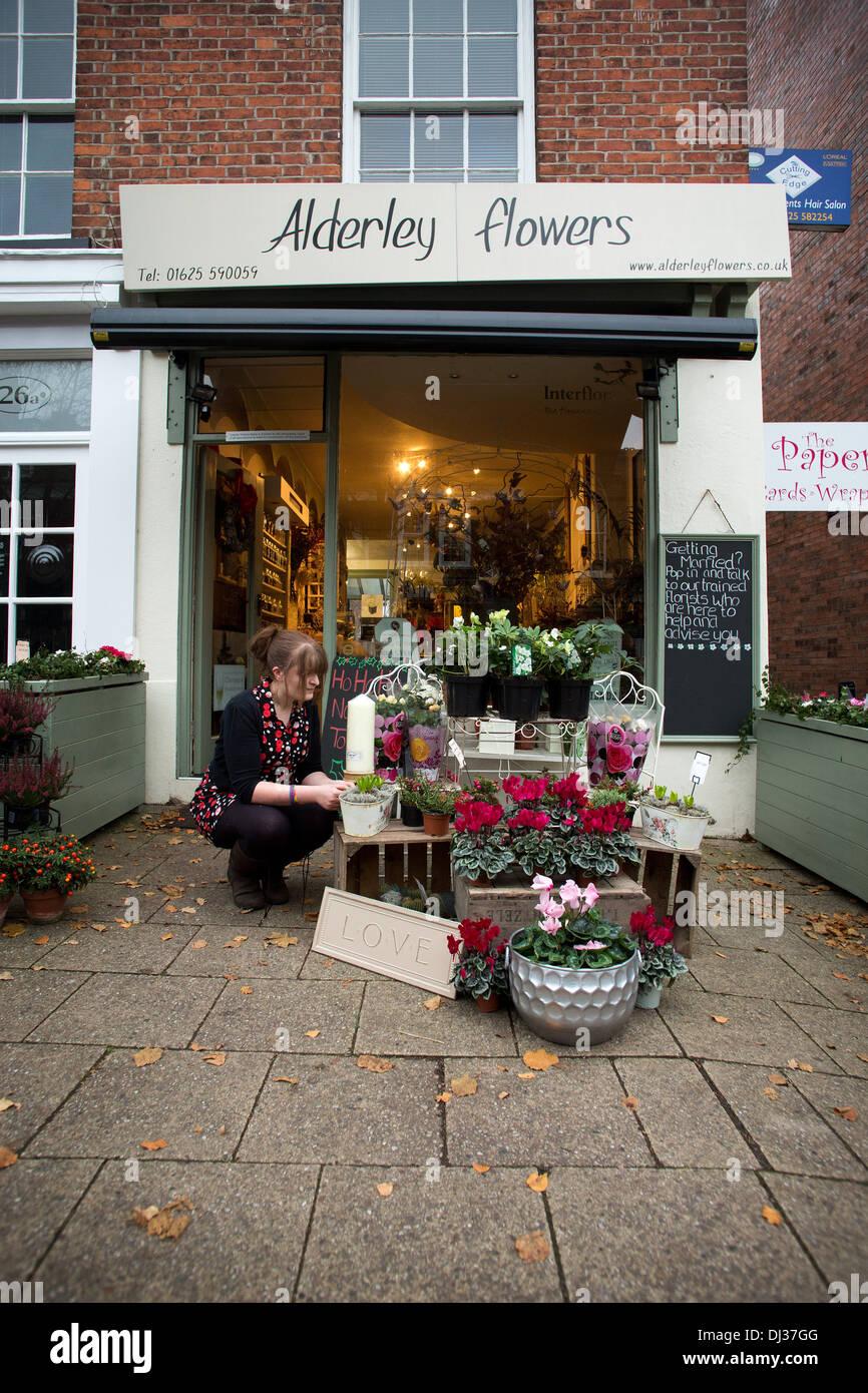 General views of florist in Alderley Edge , Cheshire - Stock Image