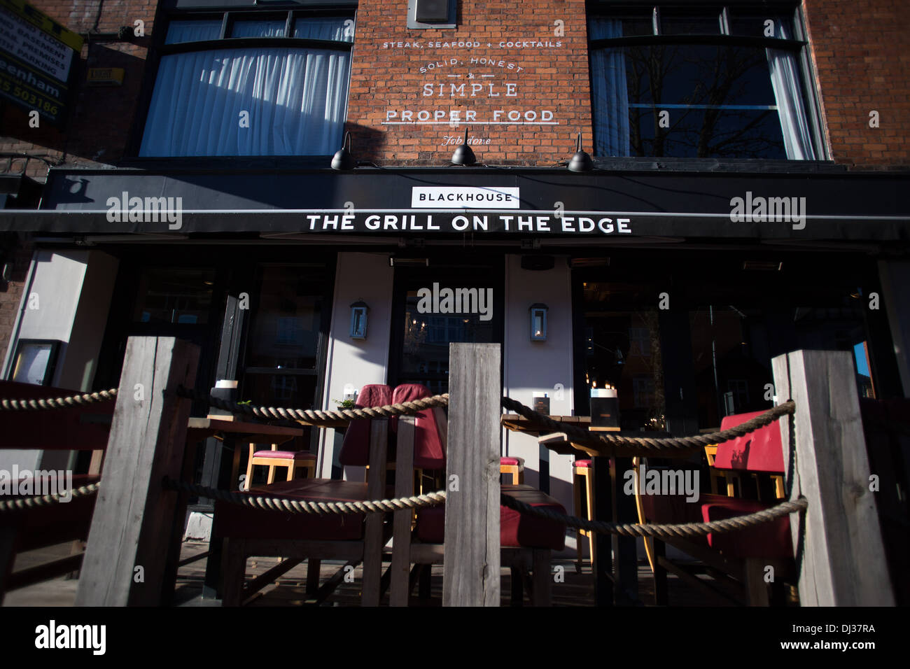 General views of bars , shops and cafes in Alderley Edge , Cheshire - Stock Image