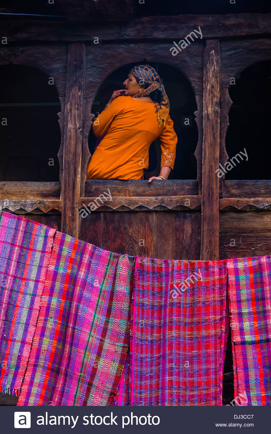Old Manali, Himachal Pradesh, India. - Stock Image